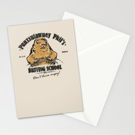 Punxsutawney Phil's Driving School Stationery Cards
