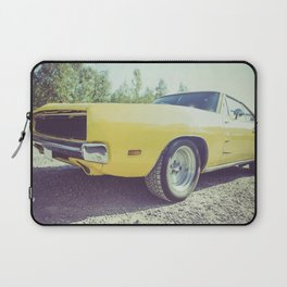Close up of a vintage yellow car Laptop Sleeve