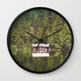Cottage in the Forest (Color) Wall Clock