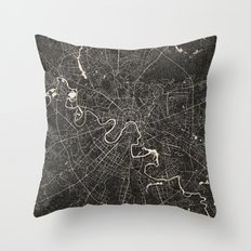 moscow map ink lines Throw Pillow