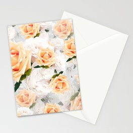 YELLOW ROSES WHITE ROSES Stationery Cards