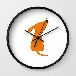 Orange dog Wall Clock
