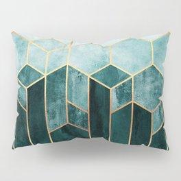 Teal Hexagons Pillow Sham