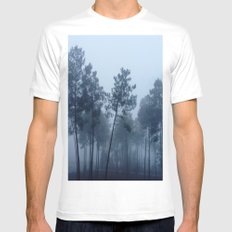Fog and Forest II-wood,mist,romantic, greenery,sunset,dawn,Landes forest,fantasy MEDIUM White Mens Fitted Tee