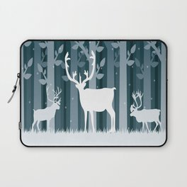 Snow Caribou Laptop Sleeve