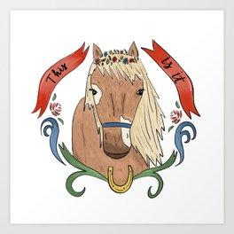 Floral Pony Art Print