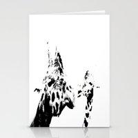 giraffes Stationery Cards featuring Giraffes  by Digital-Art