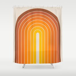 Gradient Arch - Vintage Orange Shower Curtain