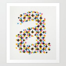 Handprinted Alphabet – a Art Print
