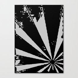 Black Sunburst Canvas Print