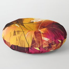 Shards of Sun - Geometric Abstract Art Floor Pillow