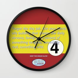 SRC Preparations. Racecar Rebels. 4 Quote Wall Clock