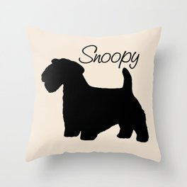 Custom Sealyham Shilhouette Pillow - Snoopy Throw Pillow