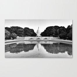 Capitol Reflected Canvas Print