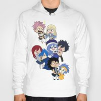 fairy tail Hoodies featuring Fairy Tail Chibi Couples by Minty Cocoa