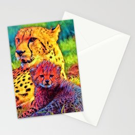 AnimalColor_Cheetah_002_by_JAMColors Stationery Cards