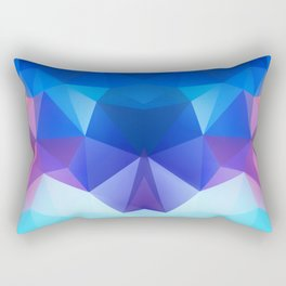 Abstract geometric polygonal pattern inih and pink tones . Rectangular Pillow