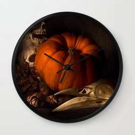 Halloween Still Life Wall Clock