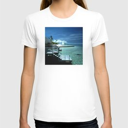 Steps Into Tropical Island Waters T-shirt