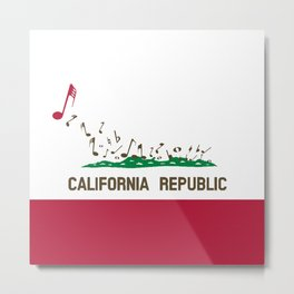 Musical Flag of the State of California Metal Print
