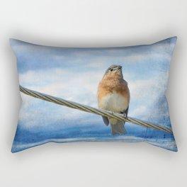 Heavenly Song Of The Bluebird Rectangular Pillow