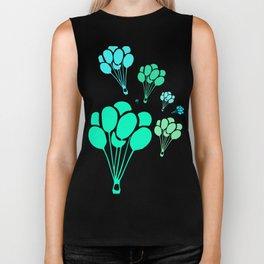 Green Balloons Biker Tank