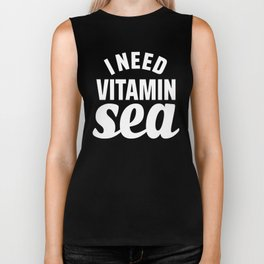 I Need Vitamin Sea Blue Biker Tank
