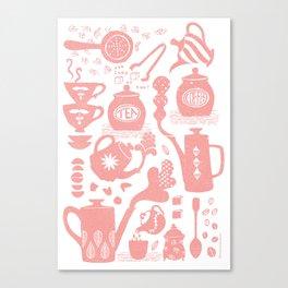Morning ritual textured print pattern Canvas Print