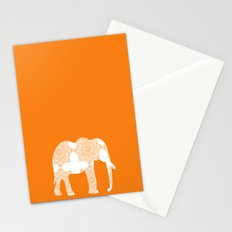 Animals Illustration - Damask Elephant Stationery Cards