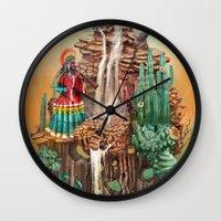 peru Wall Clocks featuring peru by Tanya_tk