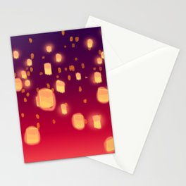 Floating Lanterns Stationery Cards