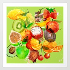 FRUITS CONFUSION Art Print