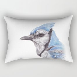 Blue Jay - CYANOCITTA CISTATA | Watercolour | Painting | Animal | Nature | Art Rectangular Pillow