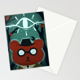 a bear that does care Stationery Cards