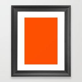 International orange (aerospace) Framed Art Print