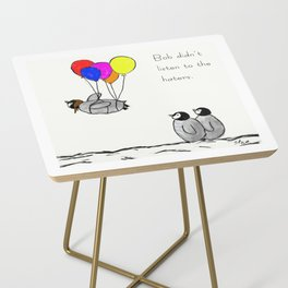 To be a Flying Penguin Side Table