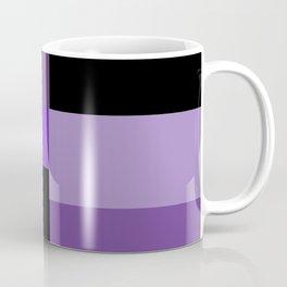 Purple Black Squares Coffee Mug