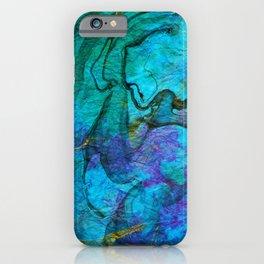 Multicolored marble ii iPhone Case