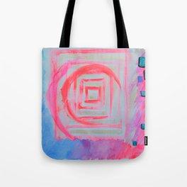 Blue Pink Tote Bag