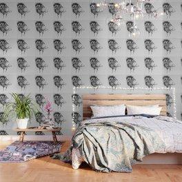 Possum Black Ink Drawing Wallpaper