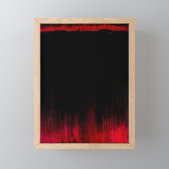 Red and Black Abstract by ayamaries