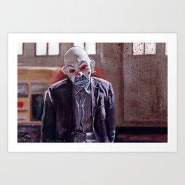 The Bank Robber (the joker) Art Print