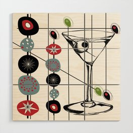Mid-Century Modern Art Atomic Cocktail 3.0 Wood Wall Art