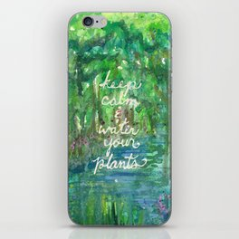 Keep Calm & Water Your Plants iPhone Skin
