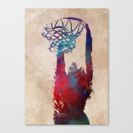 basketball player #basketball #sport Canvas Print
