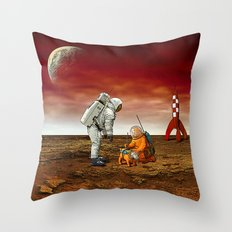 Astronauts Throw Pillow