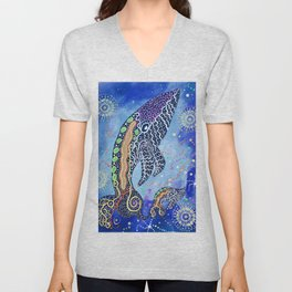 THE WHALES JOURNEY THE AWAKENING 2 Unisex V-Neck
