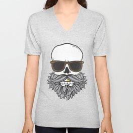 Bearded Skull Unisex V-Neck