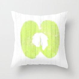 Apple Wood Throw Pillow