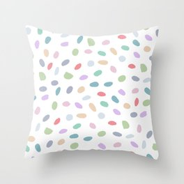 Color Oval Dots Throw Pillow